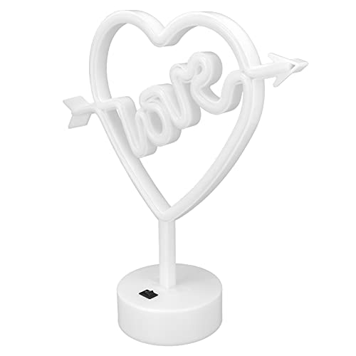 QIRG Luz de Escritorio, luz de neón USB, luz Nocturna, lámpara de neón para Bodas, para el hogar, para Bares, para Fiestas, para Regalos