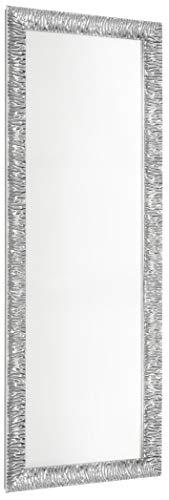 GaviaStore – Julie 140x50 cm - Specchio moderno da parete di altissima qualità - lungo figura intera alto grande decor soggiorno modern sala paret camera bagno ingresso (Argento)