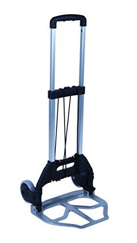 Bo-Camp [60103040] Trolley faltbar Alu bis 75 kg belastbar, Trolley für Koffer, Rollen für leichten Koffertransport