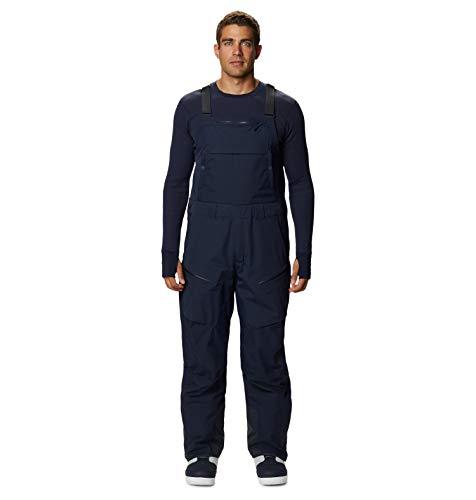 Mountain Hardwear FireFall Bib Pant Men's Insulated Bib Overalls for Skiing and Outdoor Recreation - Dark Zinc - Large Regular