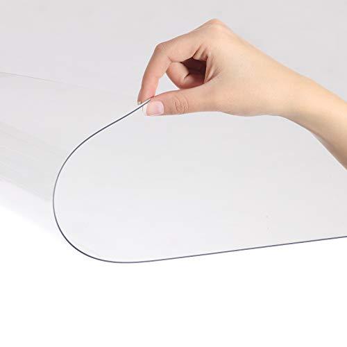 Bodenschutzmatte NEO PLUS - transparent - passgenauer Schutz von Hartböden - Unterlegmatte unter Bürostühle, Fitnessgeräte etc. (90x130cm)