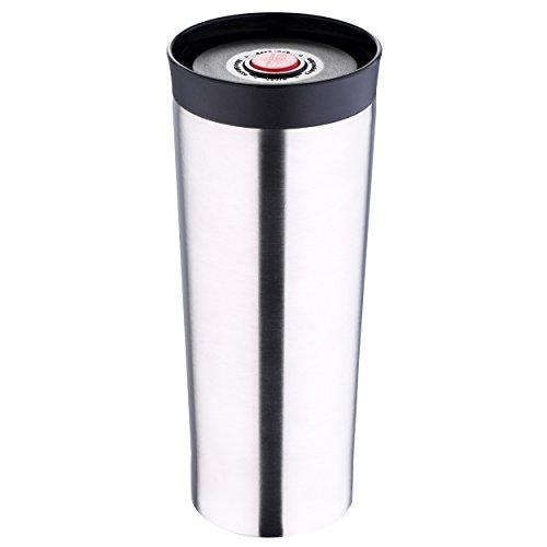 Große Thermobecher Bergner - Trinkbecher - Isolierbecher - Kaffeebecher - Becher - aus Edelstahl / Kunststoff 480 ml Kaffeebecher, Tee