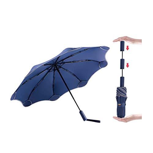 Faltschirme Automatische Sonnenschutzschirme für Kinder Männer und Frauen Anti-Rebound-Sonnenschutzmittel Anti-Ultraviolett Faltbare, abgerundete Ecken Sonnenschirm Leicht zu tragen