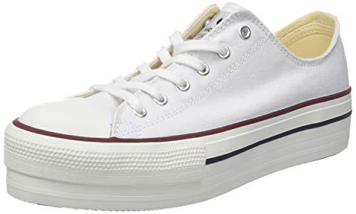 Victoria Basket Lona Plataforma Autoclave, Zapatillas para Mujer, Blanco (Blanco 20), 38 EU