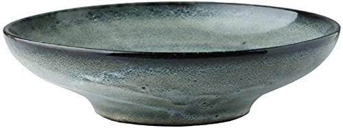 fenglei Juego de cuencos de cereales Home Big Wrist Ceramic Bowl Fruta Ensalada Plato de Fideos Bandeja de Arroz Vajilla Utensilios Comer 20x5.5cm Hotel Decorativo Retro Sopa Bowl Pasta Bowls