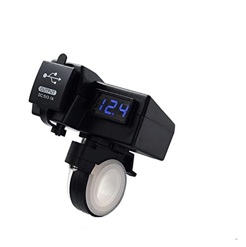 NERR Yulubaihuo 12 V Dual USB motocicleta encendedor adaptador con Bluetooth GPS motocicleta manillar toma de corriente cargador divisor