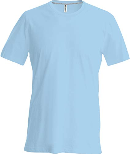 Kariban T-Shirt COL Rond Manches Courtes - Sky Blue, 4XL, Homme