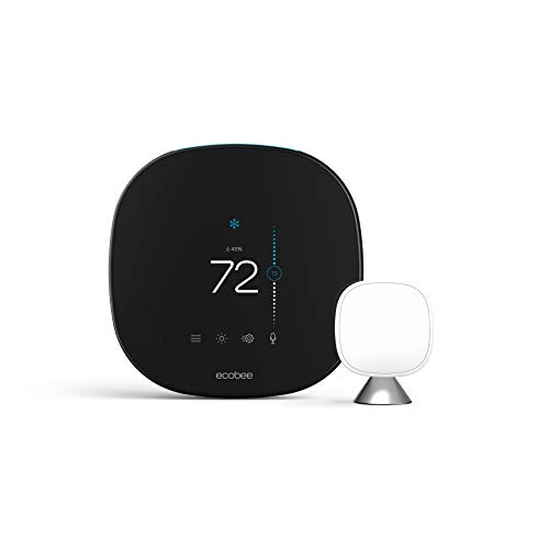 ecobee SmartThermostat Smart Thermostat Voice Control, Black