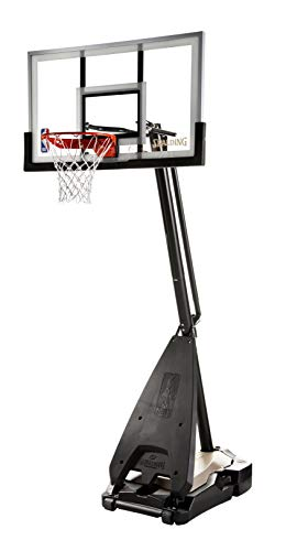 Spalding NBA Hybrid Portable Basketball System - 54' Glass Backboard