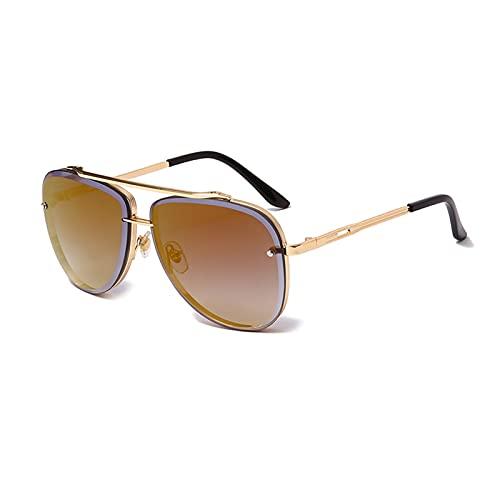 LNSTORE Gafas de Sol de 60mm de Moda para Mujer Hombres Retro Gafas de Sol de Metal Retro Gafas de Sol UV400 Sombra Decoración Elegante y Hermosa (Color : 08)