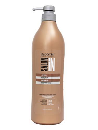 Recamier Salonin Hydra Repair Shampoo | Sin Sal Para El Cabello Seco Y Dañado Anti-Frizz | Nessun Sale Per Capelli Secchi E Danneggiati | No Salt For Dry And Damaged Hair 33.8 Ounces 1000 Mililiter