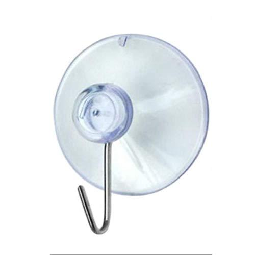 10 ganchos de plástico transparente con ventosa, 40 mm para colgar en la pared, ganchos de plástico transparente para cristal, baño, cocina, para pared