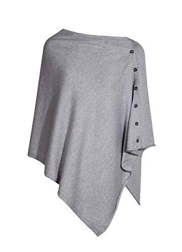 PULI Poncho de Punto con Botones Manta de Capa Bufanda de Cardigan Talla /única