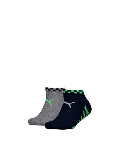 Puma - Jongens - 2-Pack Big Puma Sneaker Sokken - Zwart - 27-30