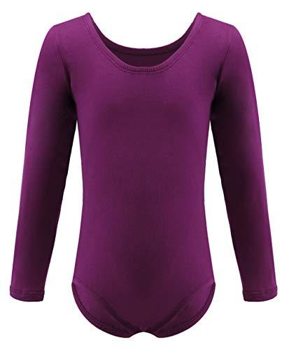 Dancina Leotard Classic Long Sleeve Girls Athletic Motionwear for Ballet Dance Recital 10 Purple