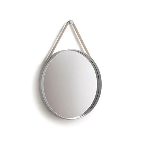 HAY spiegel strap 50 - grijs (grijs), gepoedercoat staal, hanger silicone