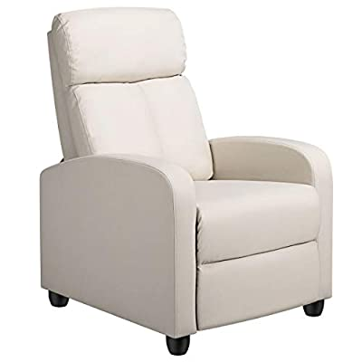 Yaheetech Recliner Chair Mordern Recliner Single Sofa Home Theater Seating