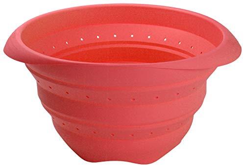 Lékué Colador de Silicona, Rojo, 23 cm