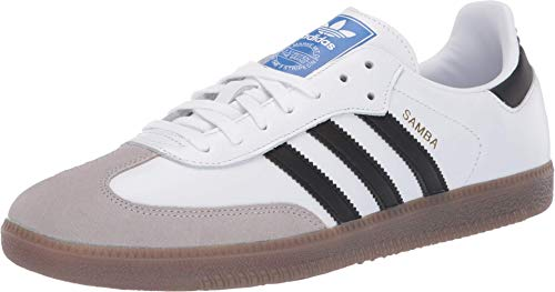 Adidas Hombre Samba Cuero White Black Granite Entrenadores 44 EU