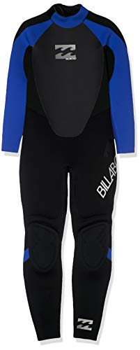 BILLABONG Kids Juvenil Junior Intruso 3 / 2MM GBS Volver Zip Wetsuit Azul - Unisex - Costura Externa de Triple Pegamento y Costuras ciegas