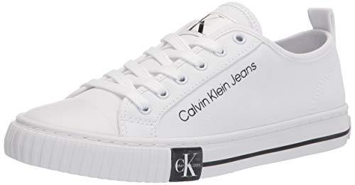 Calvin Klein Women's Clary Sneaker, White, 5.5
