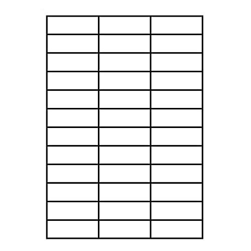 36 etiquetas por hoja A4 etiquetas de dirección autoadhesivas para correo postal de impresoras láser de inyección de tinta, etiquetas adhesivas imprimibles de 70 x 25 mm (100 hojas)