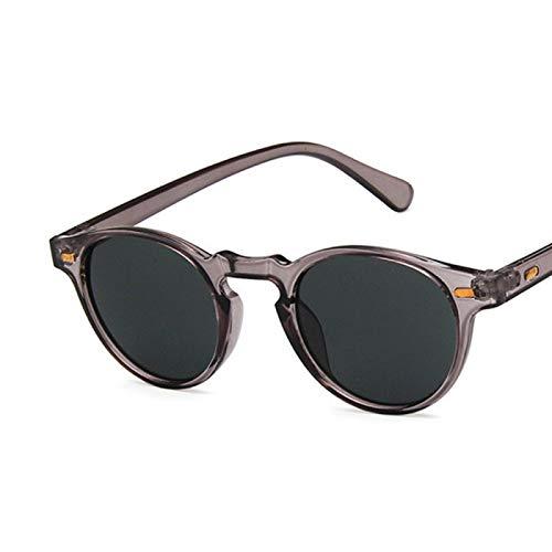 Sunglasses Gafas de Sol Gafas De Sol Pequeñas Redondas De Diseñador Hombre, Gafas De
