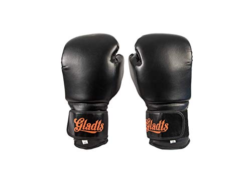 Gladts Guantes de boxeo unisex, color negro, talla 20 onzas - XXL