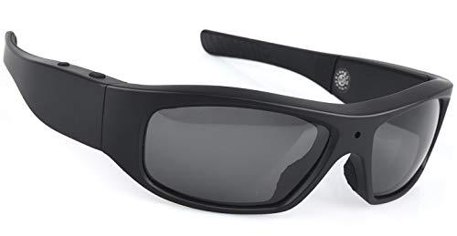 Forestfish Black Sunglasses Camera Recording Glasses 1080P HD Video Recording Camera with 16GB TF Card