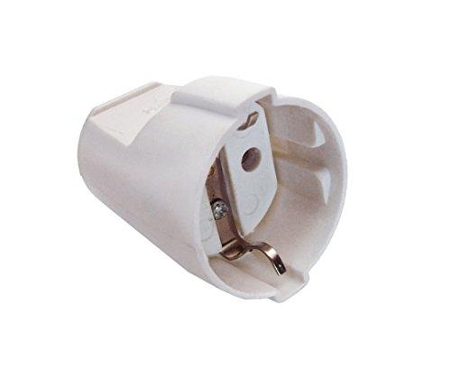 as - Schwabe 45011 Schutzkontakt-Kupplung, weiß, max. Querschnitt1,5mm² , 230 V