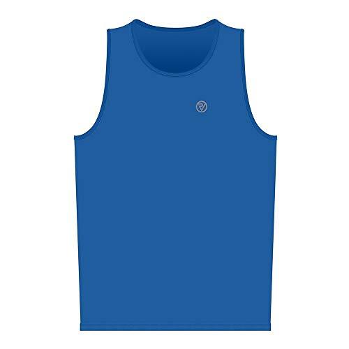 Proviz Classic Hi Viz Reflective Mens Running Singlet Vest Sleeveless Top Hi Visibility XXL Blue