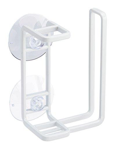 山崎実業 歯ブラシスタンド 吸盤トゥースブラシ&タンブラーホルダー ミスト ホワイト 2973