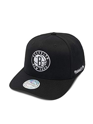 Mitchell & Ness Herren Snapback Caps NBA Brooklyn Nets 110 schwarz Verstellbar