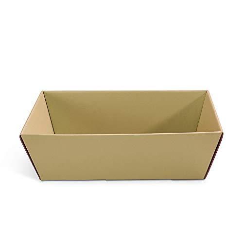 5 x PresentFill® Präsentkorb leer ohne Inhalt - Geschenkkorb aus umweltfreundlichen 100% Recycling Karton - rechteckig - Natur - Made in Germany für Weihnachten - Ostern - Hochzeit - Geschenke