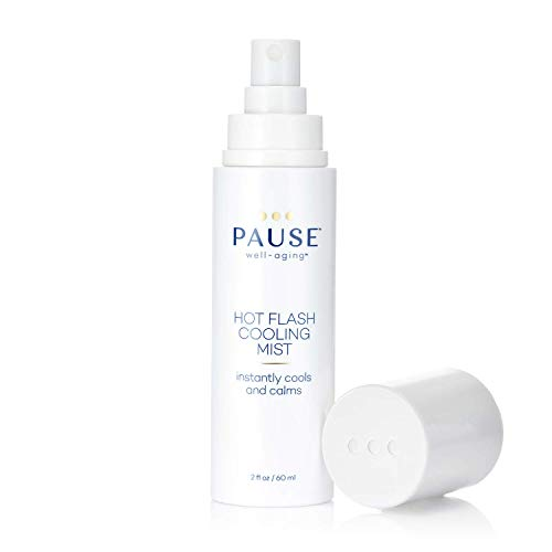 Pause Hot Flash Cooling Mist | Calming Mist Spray for Cooling Skin, Reducing Redness, Hot Flash Relief & Evaporating Sweat, Sparks Collagen Production, Tones Skin, 300 Sprays per Bottle, 2 fl oz/60 mL