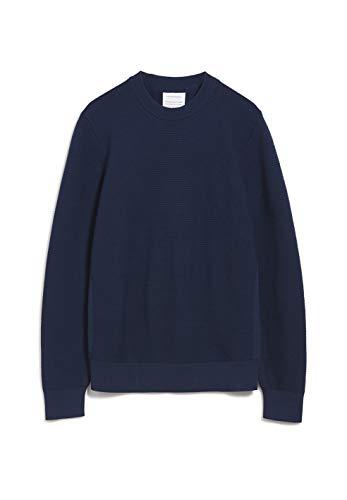 ARMEDANGELS AATU OTTOMAAN - Herren Pullover aus Bio-Baumwolle XL Navy Strick Pullover, Knit Pullover Rundhals Regular fit