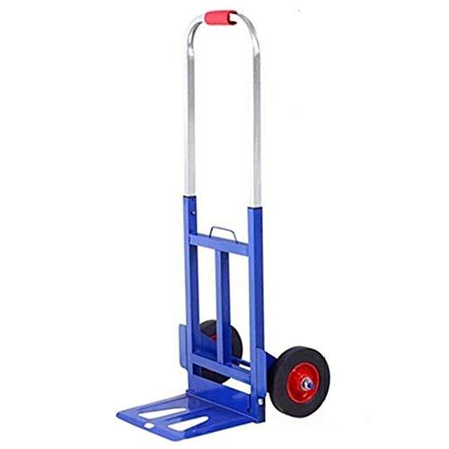Stahl Klapp Trolley Klappbar Leichtgängige Räder mit Soft-Laufflächen und bis 150 kg,Blau Transportkarre für Festivals, Camping, Gartenarbeit, Angeln und Büro verwenden Sie den innovativen faltbaren