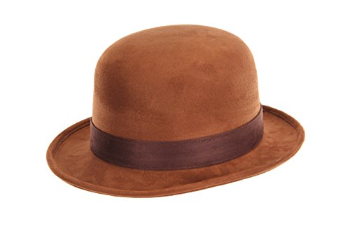 Brown Bowler Derby Costume Hat for Adults