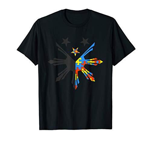 Filipino Heritage T Shirt - Autismn Awareness Warrior Tee