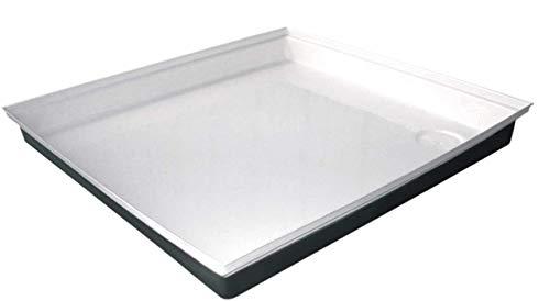 """ICON 00461 Shower Pan SP100-27"""" x 24"""" x 4"""", Polar White"""