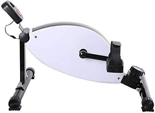 ZOUSHUAIDEDIAN Mini bicicleta estática portátil Inicio pedal ejercitador la gimnasia de la pierna del brazo de entrenamiento cardiovascular ajustable resistencia con pantalla LCD for mujeres y hombres