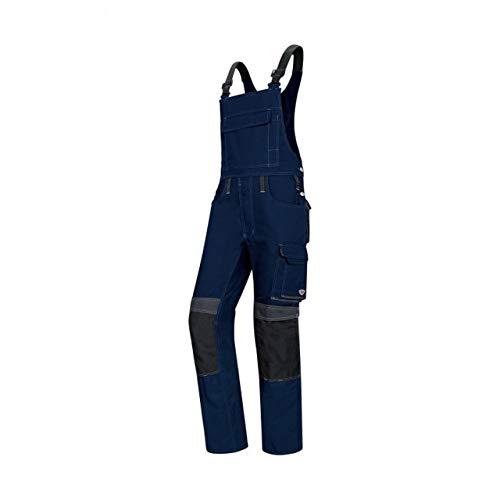 BP 1802-720-110-50s Latzhose, Stretch-Hosenträger mit Clipbefestigungen, 305,00 g/m² Verstärkte Baumwolle, Nachtblau/Anthrazit, 50s