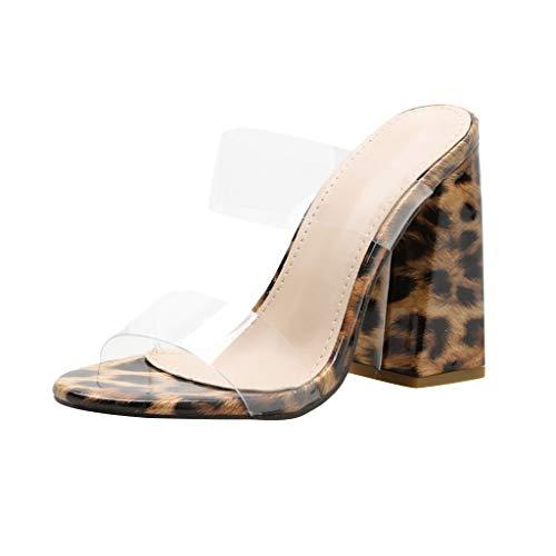 Sandalias Transparentes Mujer Tacon Baratas Verano 2019 Chanclas Mujer Piscina Moda Zapatillas Casa Mujer Verano Tacones Altos Baratos Mujer Sexy Zapatos de Tacon POLP Botas de Lluvia Impermeable