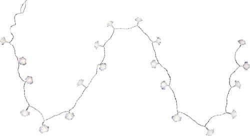 Guirlande lumineuse DEL lampes Noël fleurs blanc luminaire éclairage décoration