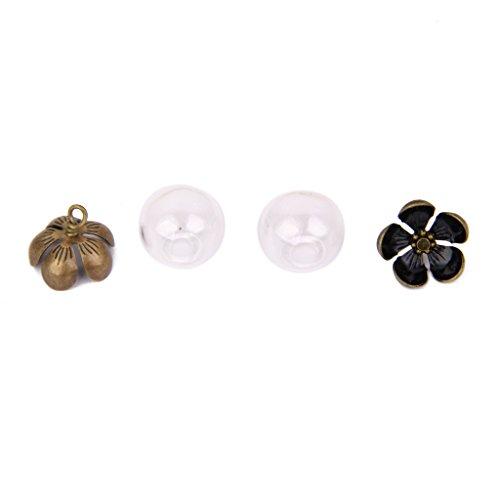 joyMerit 2pcs Bola de Cristal Vacía Colgante Cuelga Encantos Frascos Deseo Botellas Transparentes