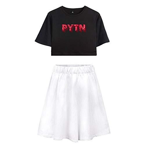 Trainingspak Crop Top T-shirt en Sportrok 2-delige set Gym Outfit-prints Payton Moormeier Sportwear Trainingspak Sweatsuit Voor hardlopen Jogging Yoga Casual A15303TXDQ