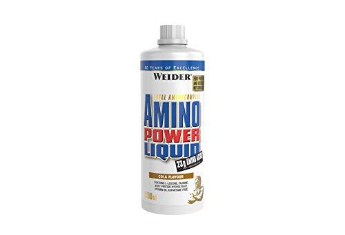 WEIDERAmino Power Liquid, Cola, Flüssiges Hydrolysiertes Protein + Aminosäuren, 1 Liter
