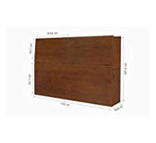 Memomad Cabecero Bali Color Caramelo para Camas de hasta 140cm de Ancho - Cabecero Funcional con Mucho Espacio de Almacenamiento - Moderno cabecero de Madera Maciza de Pino