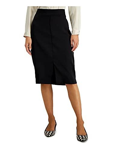 Alfani Womens Black Knee Length A-Line Wear to Work Skirt Size 8