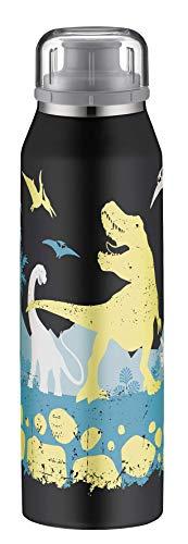 alfi 5677.108.050 Isolier-Trinkflasche isoBottle, Edelstahl Dino 0,5 l, 12 Stunden heiß, 24 Stunden kalt, Spülmaschinenfest, BPA-Free